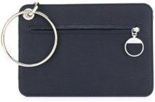 Mm6 Maison Margiela - Borsa Clutch - women - Calf Leather/Polyester/Polyurethane - OS - BLUE