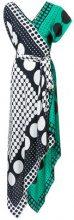 Diane Von Furstenberg - Abito grafico asimmetrico - women - Silk - S - BLACK