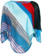 Missoni - colour-block embroidered top - women - Cotton/Viscose - OS - MULTICOLOUR