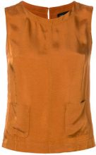 Roberto Collina - Blusa con tasca marsupio - women - Cupro/Viscose - S, M, L - YELLOW & ORANGE
