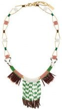 Radà - Collana lunga con frange - women - Brass/plastic/glass - OS - GREEN