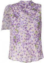 Twin-Set - Blusa con stampa a fiori - women - Viscose - 40, 44 - PINK & PURPLE