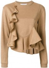 Givenchy - Top svasato - women - Wool - S, XS - BROWN