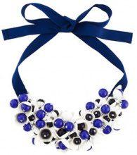 P.A.R.O.S.H. - floral motif short necklace - women - Cotton/Methyl Methacrylate/Brass/zamac - OS - BLUE
