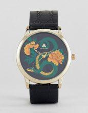 ASOS - Orologio nero e oro con disegno di serpente - Nero