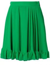 MSGM - Gonna con ruches sul fondo - women - Viscose/Polyester - 38, 40, 42 - GREEN
