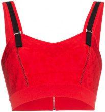Alexander McQueen - Top di maglia a fiori - women - Viscose/Polyamide/Polyester/Spandex/Elastane - S, L - RED