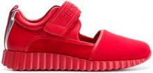 Salvatore Ferragamo - Sneakers con cinturino a strappo - women - Leather/Polyamide/Kid Leather/rubber - 5.5, 6.5, 7, 7.5, 8, 8.5, 9.5 - RED