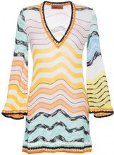 Missoni - Mini abito con scollo a V - women - Viscose - 38, 40, 42, 44, 46 - MULTICOLOUR