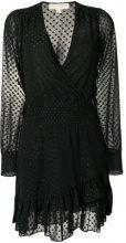 Michael Michael Kors - dot jacquard dress - women - Polyester - M - BLACK