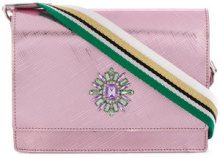 Gum - Borsa a tracolla decorata - women - Polyurethane/metal/glass - OS - PINK & PURPLE