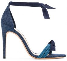Alexandre Birman - Sandali con cinturino alla caviglia - women - Leather/Canvas - 35, 36, 37, 37.5, 38, 38.5, 39, 39.5, 40, 41 - BLUE