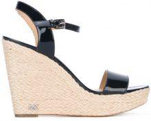 Michael Michael Kors - wedge sandals - women - Goat Skin/Leather/Foam Rubber - 6.5, 8.5, 9 - BLACK