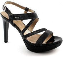 Sandali Nero Giardini  17890 nero scarpe donna sandali tacco glitter eleganti