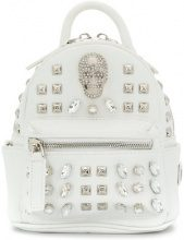 Philipp Plein - Shiny Skull mini backpack - women - Leather - OS - WHITE