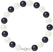Pearls & Colors Bracciale intrecciato Donna argento 925_argento perla rotonda - AM17-BRA-AG-R910-M-WHBL