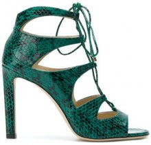 Jimmy Choo - Sandali 'Blake 100' - women - Python Skin/Leather - 36, 38.5, 39 - GREEN