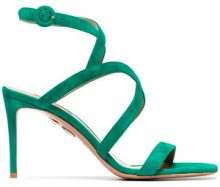 Aquazzura - Sandali 'Morena 85' - women - Leather/Suede - 36, 37, 38.5, 39, 39.5, 35, 35.5, 36.5, 40, 40.5 - GREEN