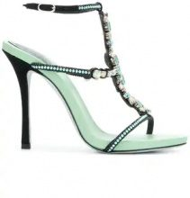 René Caovilla - Sandali con perline - women - Calf Leather/Leather/PVC - 36, 36.5, 38, 38.5, 39 - Verde