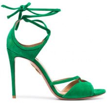 Aquazzura - Green Nathalie 105 suede sandals - women - Suede/Leather - 35, 36, 40.5 - GREEN