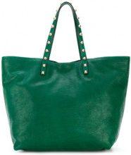 Red Valentino - Borsa Tote borchiata - women - Calf Leather - One Size - GREEN