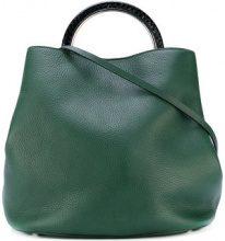 Marni - Borsa tote 'Pannier' - women - Calf Leather/Snake Skin/Brass - OS - GREEN