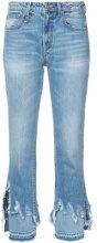 R13 - distressed detail jeans - women - Cotton - 25, 26, 27, 28, 29, 30, 24 - BLUE