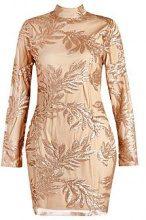 Boutique Lisa Sequin Print Bodycon Dress