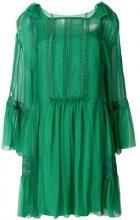Alberta Ferretti - embroidered flared dress - women - Acetate/Silk/Spandex/Elastane - 42 - GREEN