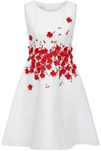 APART Fashion Glamour: Orange-Pink-Mauve-Lilac & Flowers, Vestito Donna, Mehrfarbig (Cream-Red), 36