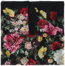 Dolce & Gabbana - Foulard con stampa floreale - women - Silk - One Size - BLACK