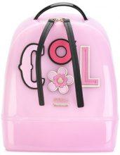 Furla - appliquéd backpack - women - Leather/PVC - OS - PINK & PURPLE