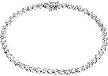 Naava Bracciale da Donna, Oro Bianco, 9 Carati 375/1000, Diamante