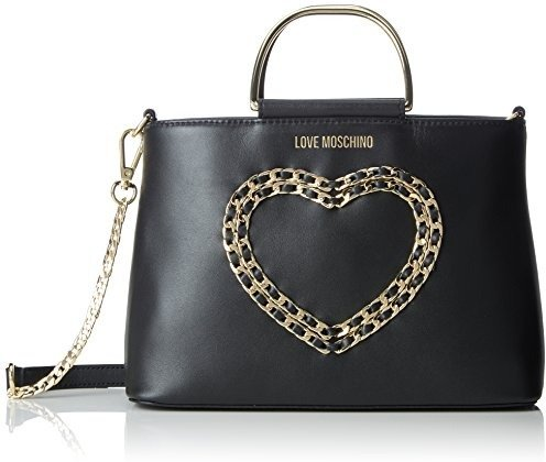 e18056c28d Love Moschino Borsa Vitello Bottalato Nero - Borse a spalla Donna, (Black),  10x19x26 cm (B x H T). Immagini prodotto. LOVE MOSCHINO