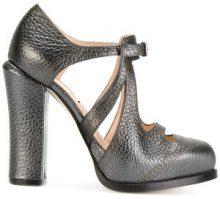 Fendi - Pumps aperte - women - Leather - 35, 36, 37, 38 - GREY