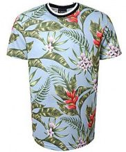 Stampa floreale sublimata a t-shirt con coste sportive