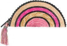 Rebecca Minkoff - Borsa clutch 'Taco' - women - Straw/PVC - One Size - PINK & PURPLE