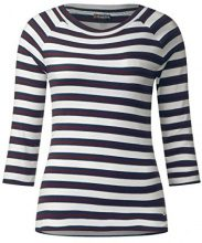 Street One Multicolor Stripe Shirt, T-Shirt Donna, Weiß (Off White 30108), 48 (Taglia Produttore: 42)