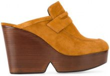 Clergerie - Mule 'Damor' con zeppa - women - Leather/Suede - 36, 37, 38, 40, 41, 36.5 - Marrone