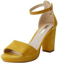 XTI 30686, Scarpe con Cinturino Alla Caviglia Donna, Giallo (Panama), 40 EU