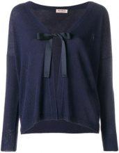 Blanca - Cardigan con chiusura a nodo - women - Viscose/Polyester - 40, 42, 44, 46, 48 - BLUE