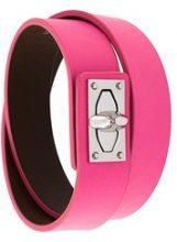 Givenchy - 'Shark' bracelet - women - Calf Leather/Bullhide Leather - S - PINK & PURPLE