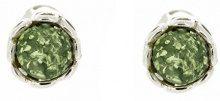 Nova Silver Donna 925 argento Rotonda verde Ambra