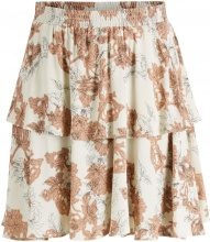 Y.A.S Ruffle A-shaped Floral Printed Mini Skirt Women Beige
