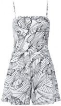 Isolda - printed playsuit - women - Cotton - 42 - WHITE