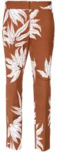 - Andrea Marques - printed straight trousers - women - fibra sintetica/cotone - 44 - color marrone