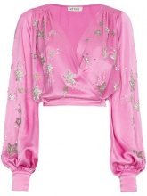 Attico - Blusa decorata - women - Acetate/Viscose/Polyester/Silk - 40, 42 - PINK & PURPLE