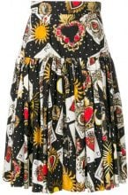 Dolce & Gabbana - Gonna card print skirt - women - Cotton - 38, 40, 42 - BLACK
