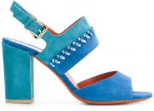 Santoni - Sandali bicolore - women - Leather/Suede - 36, 37, 37.5, 38, 38.5, 39, 39.5, 40, 36.5 - BLUE