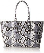 Armani Jeans Borsa Shopping - Borse a spalla Donna, Mehrfarbig (Bianco/nero), 28x10x38 cm (B x H T)